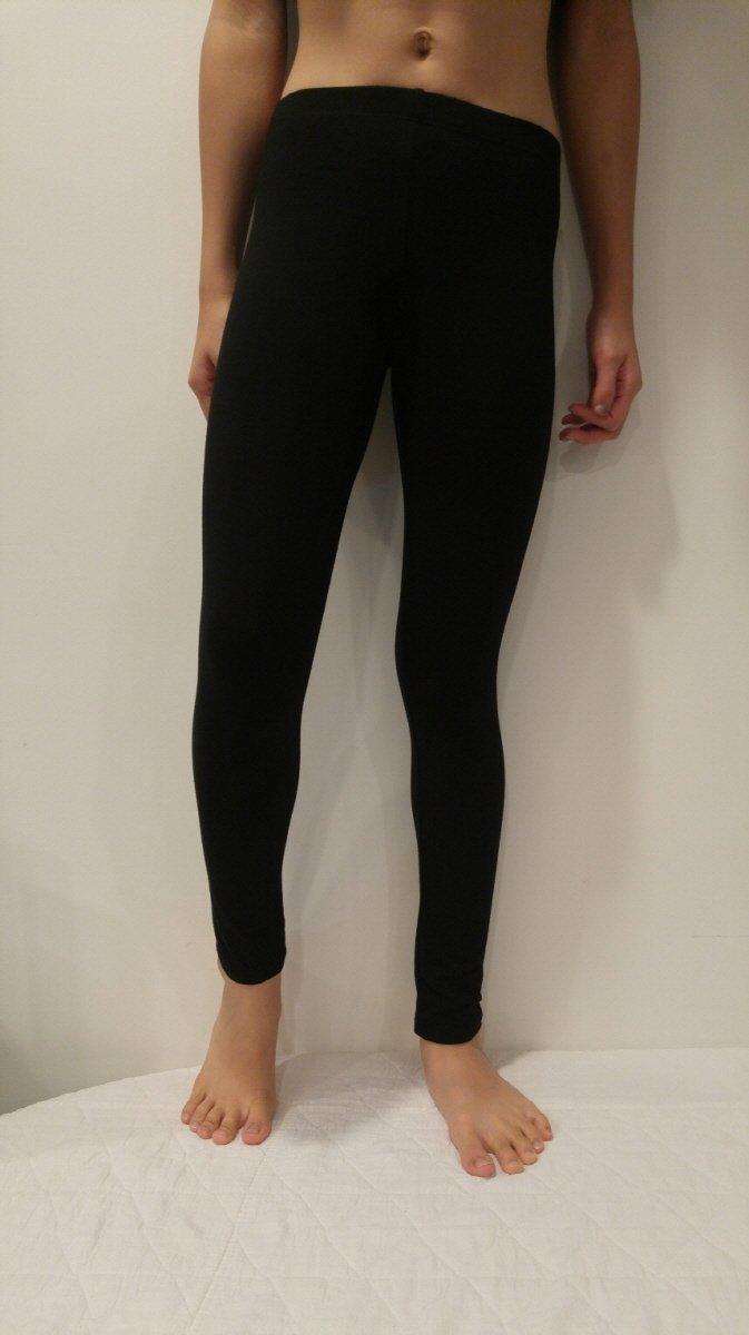Activities Kids Soft Stretch Sports Yoga Skinny Full Length Cotton-Spandex Leggings Tights (XLarge(12), Black)