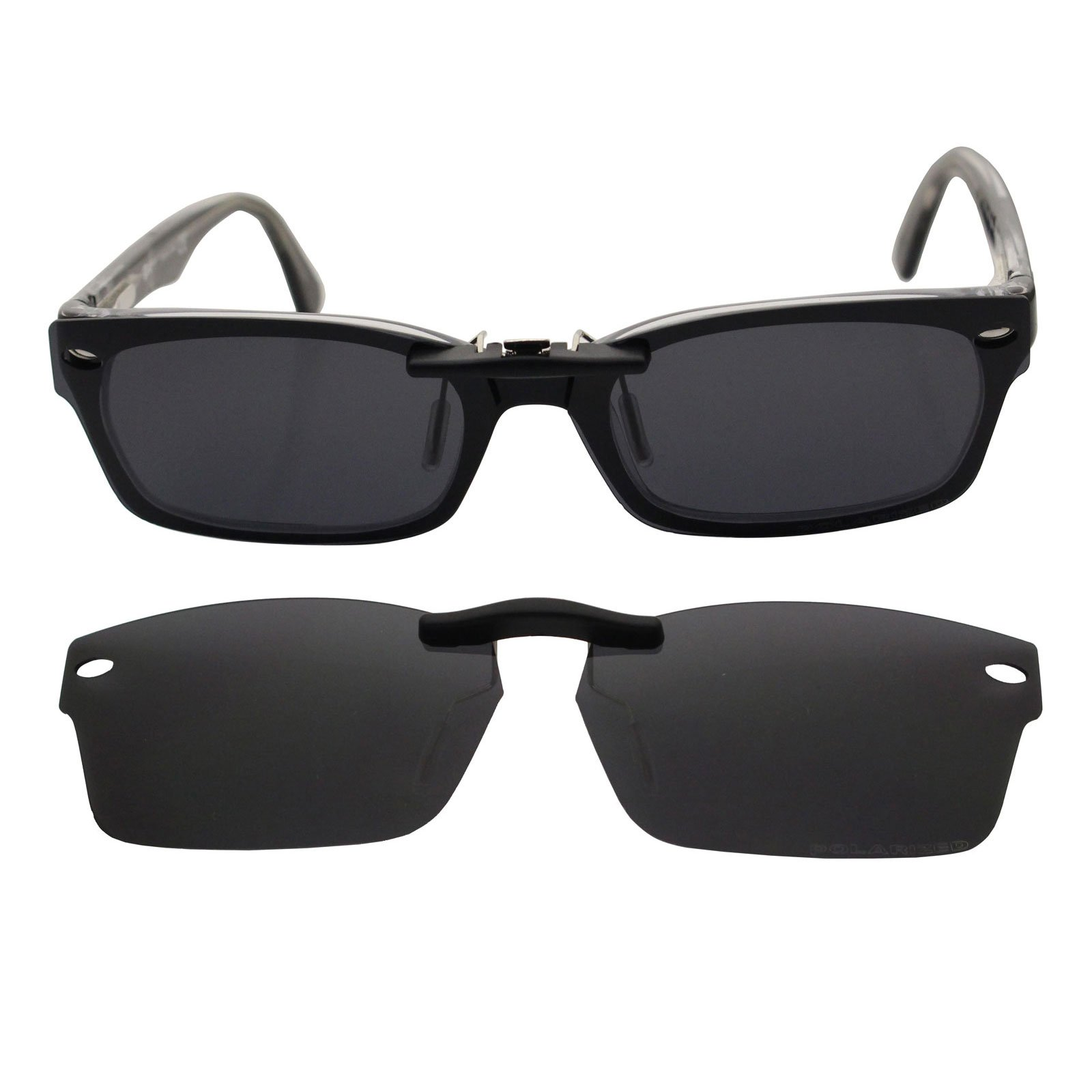 Custom Polarized Clip On Sunglasses for RAY-BAN RB5150 (52mm) 52-19-135 (Black)