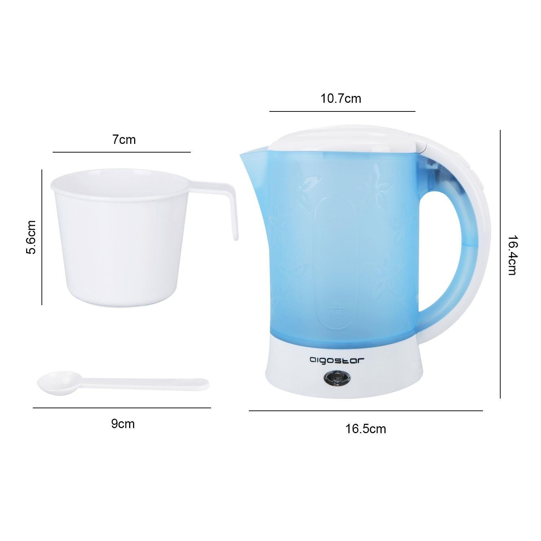 Aigostar Walking Drip 30JQK-Hervidor de agua compacto 650 W, 0,6 litros, protección contra la ebullición en seco. Libre de BPA.