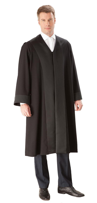 Die Robe – schwarze Einsteiger/Anwaltsrobe für Herren aus 100 % Polyester ER1001