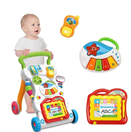Amazoncom Bigbuyu Activity Baby Walker Sit To Stand Learning