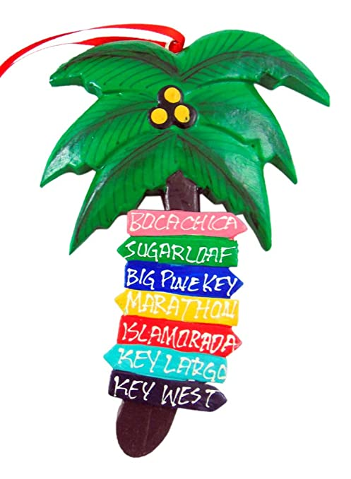 Christmas In Florida Keys.Westman Works Florida Keys Palm Tree Christmas Ornament Decoration With Hand Painted