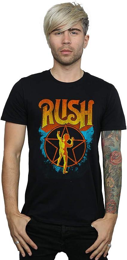 Absolute Cult Rush Mens Distressed Burst Logo T-Shirt