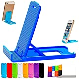 Dot9Ti9 Small Size Universal Adjustable 4 Steps Fold-able Holder for All Phone Tablet Desk (Assorted Colour)- Pack of 2