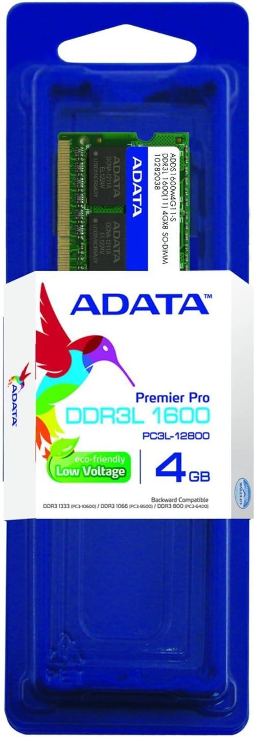 ADATA Premier DDR3L1600MHz 4GB Memory Modules (ADDS1600W4G11-S)