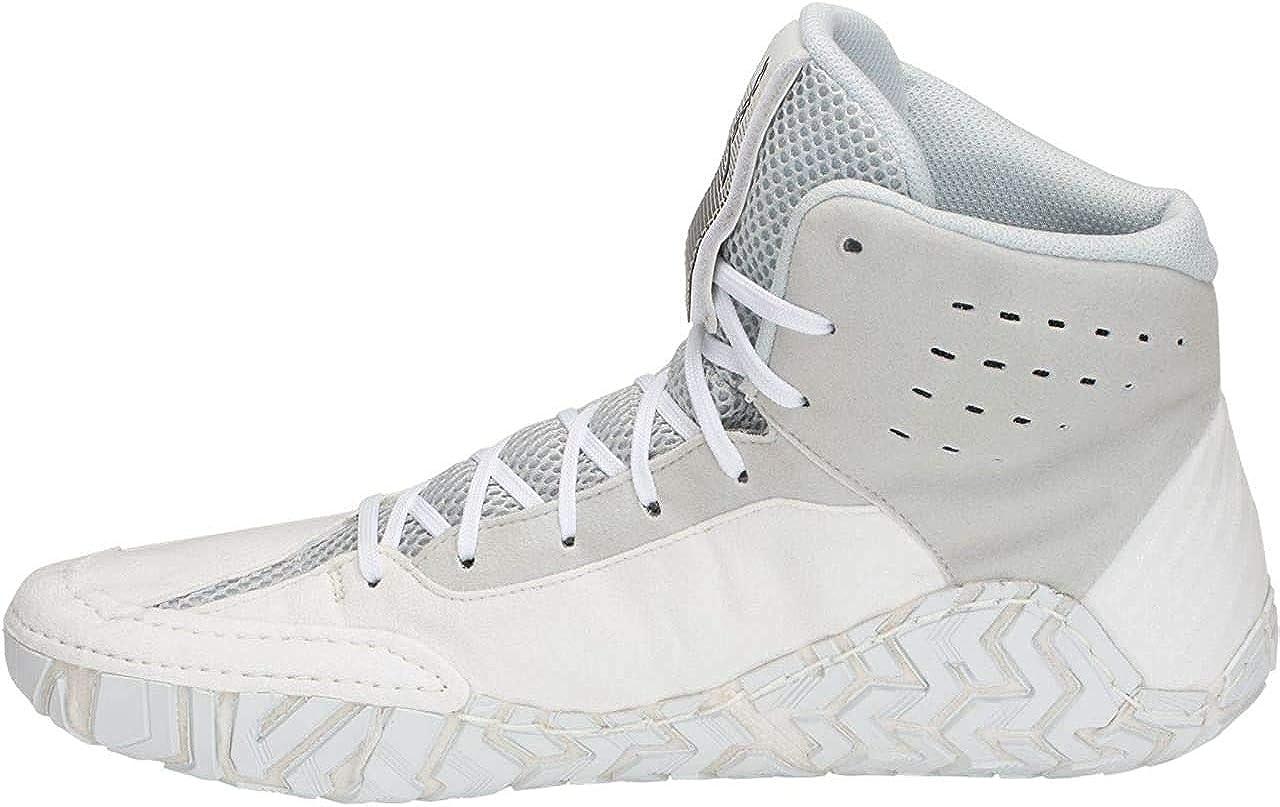 | ASICS Men's Aggressor 4 Wrestling Shoes, White/Black, Size 11 | Wrestling