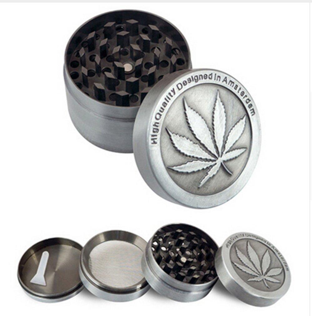 HS 1pc Zinc Alloy Herb Grinder Coin Shape Pattern Grinder
