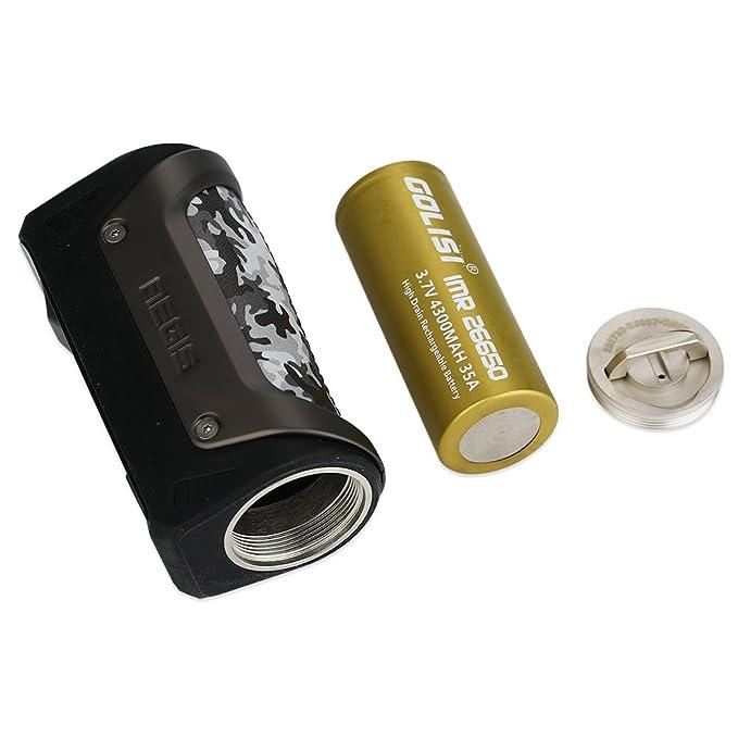 Cigarrillo electrónico 100W GeekVape Aegis TC Box MOD con 26650 Batería 4300mAh Cigarrillo electrónico Auténtico (Gun Metal), No e Liquid, No Nicotine: ...