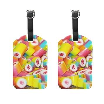 Amazon.com: Juego de 2 etiquetas para equipaje con estampado ...