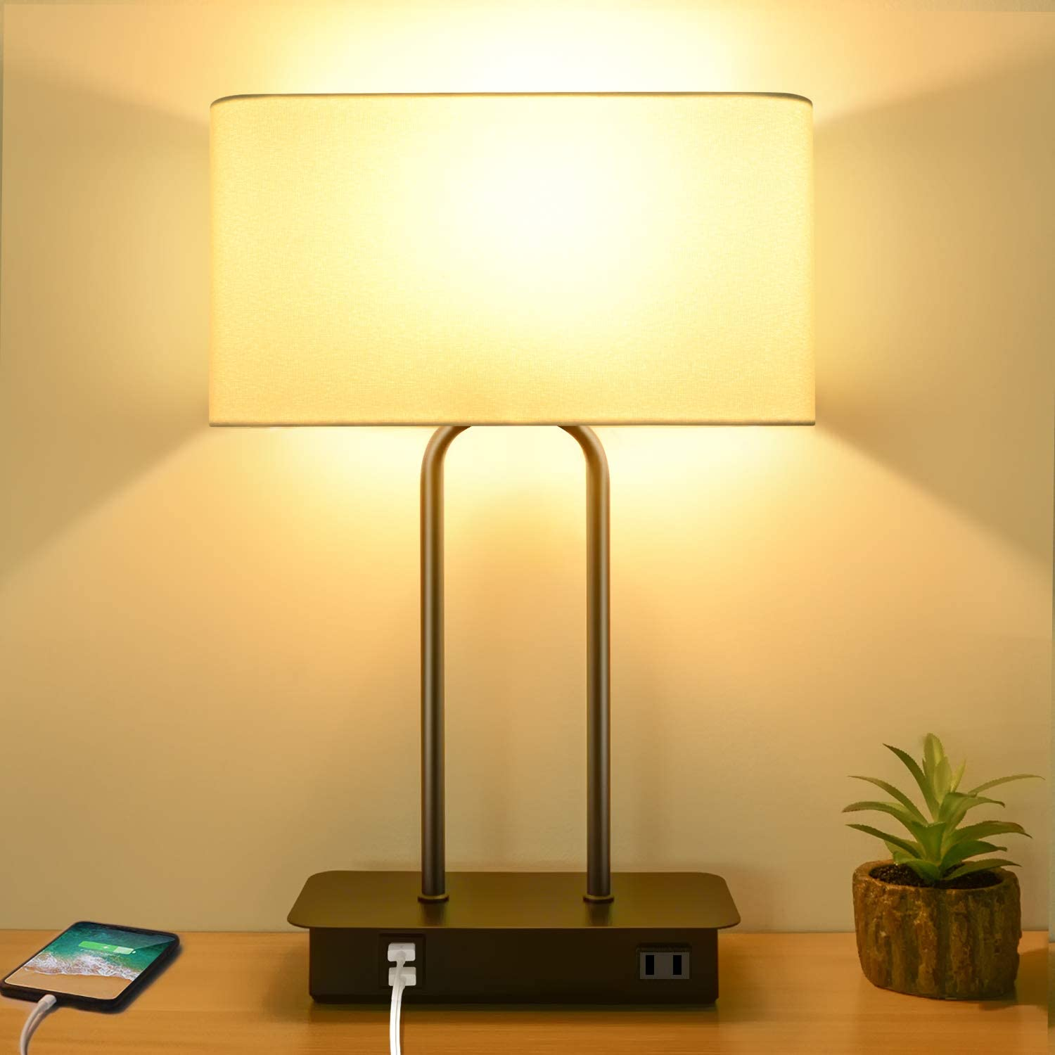 BesLowe 2USB 2700K 3-Way Dimmable Touch Control Lamp$39.99
