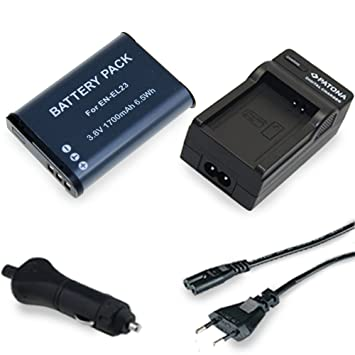 Cargador PATONA + Bateria Premium 1700 mAh EN-EL23 EN-EL23 ...