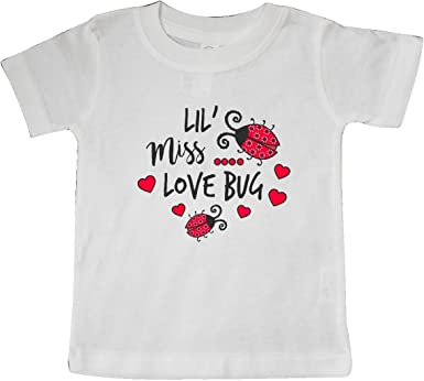 inktastic Lil Miss Love Bug with Lady Bug and Hearts Toddler T-Shirt