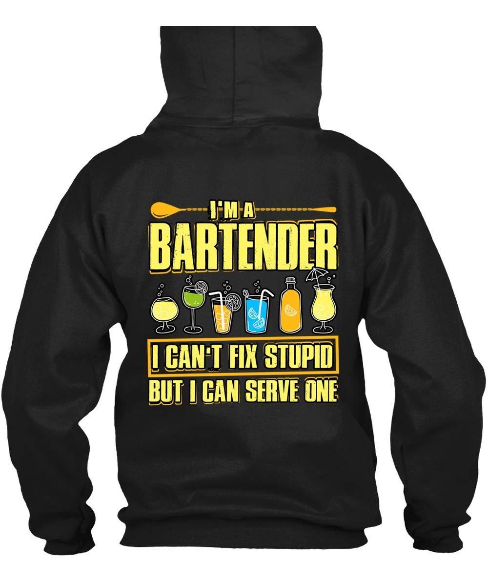 Tigerkey I Cant Fix Stupid S Im A Bartender T Shirt Black