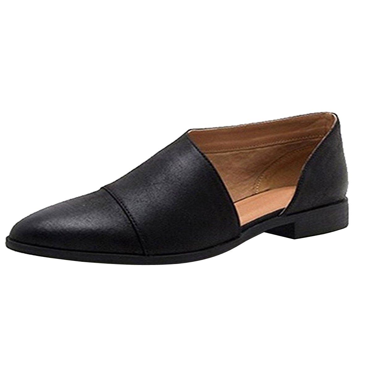 Dear Time Women Flat Pointed Toe Slip On Loafer Casual Dress Low Cut Comfort Walking Shoes US 9