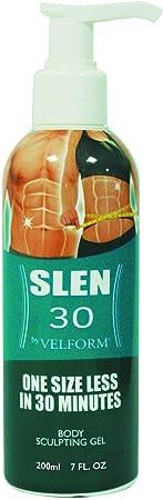 BEST DIRECT Velform Slen 30 Visto en TV Gel anticelulítico Eliminar grasa Crema adelgazante Reductora con Ingredientes orgánicos