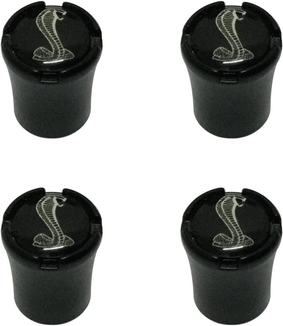 Modern Design 4pcs ST Logo Black Auto Car Wheel Tire Air Valve Caps Tire Decoration For Ford Car Model