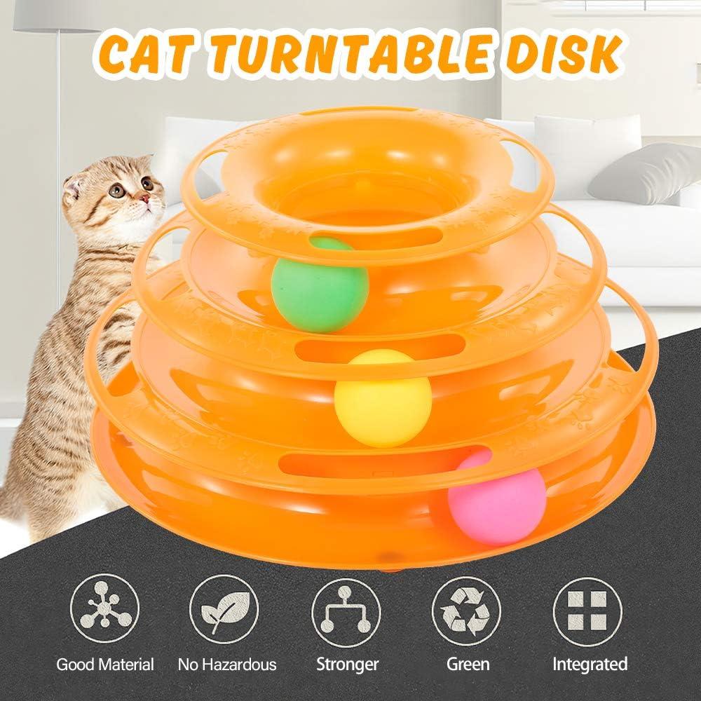 Galapara Mascotas para Gatos Juguetes Interactivo 3 Capas Bola ...