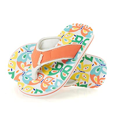 f15cad104ed1 Animal Swish Aop Girls Flip Flops - Coral  Amazon.co.uk  Shoes   Bags