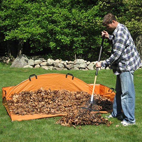 (Gigantic 48-Inch EZ Leaf Hauler, Can Hold Up To 4 Wheelbarrow Loads of Leaves)