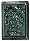 Villini 100% Leather US Passport Holder Cover Case For Men Women In 8 Colors (Green Vintage)