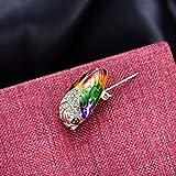 Comelyjewel Cicada Brooch Insects Rhinestone