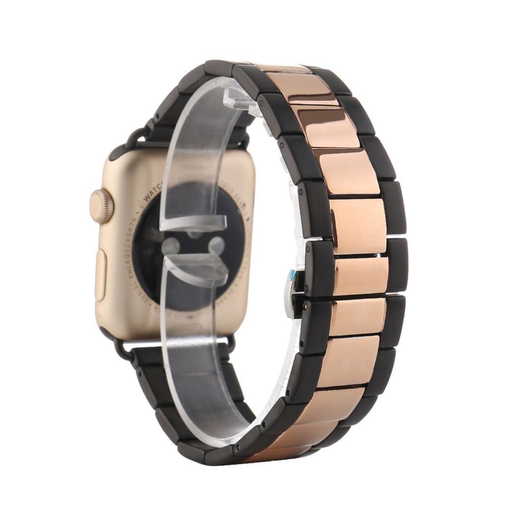 Ankola for Apple Watchバンド38 mm / 42 mmホット販売交換ステンレススチールリストバンド腕時計ストラップブレスレット 42MM ローズゴールド 42MM|ローズゴールド ローズゴールド 42MM B0728CQPQW