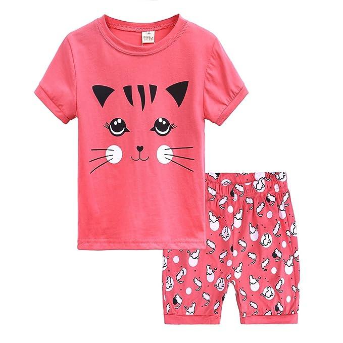 Amazon.com: Kinkie pijamas de manga corta de algodón para ...
