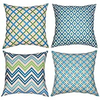 Tedars Decorative Throw Pillow Covers 18x18 Inch Set