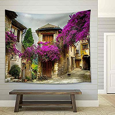 Elegant Visual, That You Will Love, Beautiful Old Town of Provence Fabric Wall