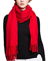 Wander Agio Womens Warm Cashmere Feel Scarf Long Large Couples Scarves Pure Color