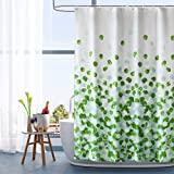 ARICHOMY Shower Curtain Bathroom Fabric Curtains Set Waterproof Colorful Funny with Standard Size 72 by 72 (Green)