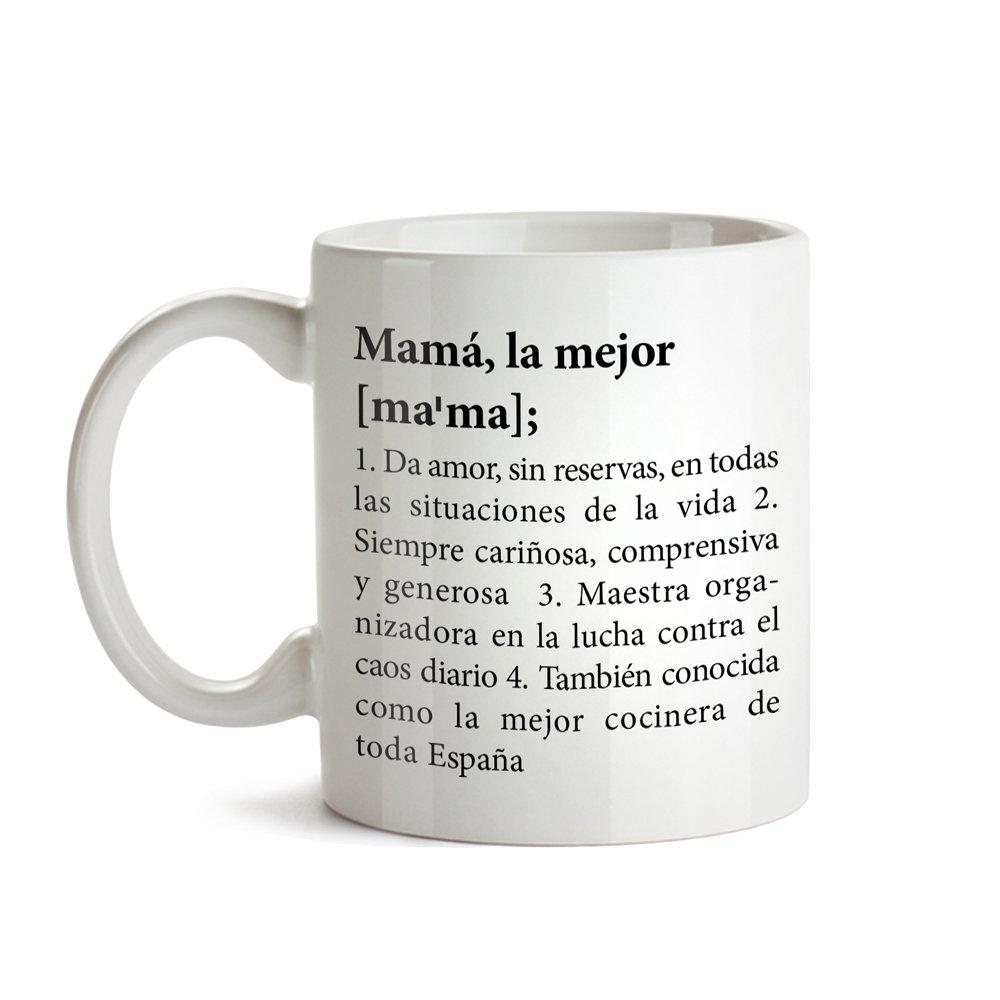 Taza con Mensaje Regalos para Cumplea/ños Definici/ón Original de la Mejor Mam/á Tazas de Caf/é Divertidas e Ideales para Regalar en el D/ía de la Madre