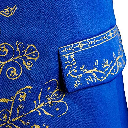 5547c4bf8269 SIDNOR Beauty and The Beast Prince Dan Stevens Blue Uniform Cosplay ...
