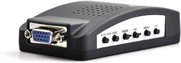 VGA a Video Converter S-vídeo y CCTV a TV PC portátil Notebook pantalla del monitor adaptador convertir: Amazon.es: Electrónica