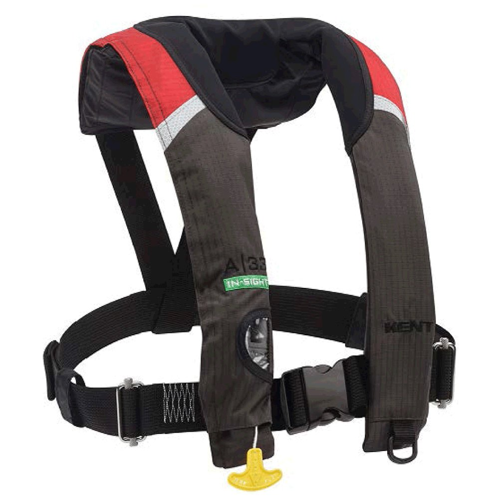 Kent A-33 in-Sight Automatic Inflatable Life Jacket Red