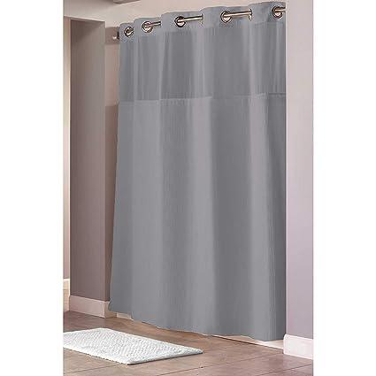 Amazon Hookless Waffle Fabric Shower Curtain