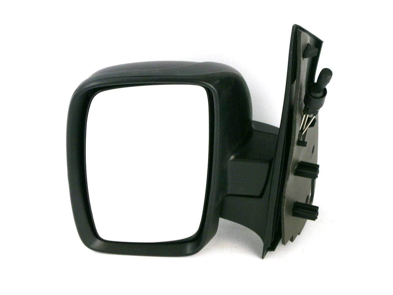 Van Demon Left Hand Single Glass Black Manual Cable Door Mirror for Peugeot Expert (07-16) VY52864#1