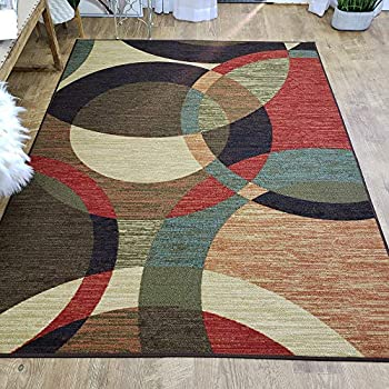 Amazon Com Area Rug 3x5 Colored Circles Kitchen Rugs Mats