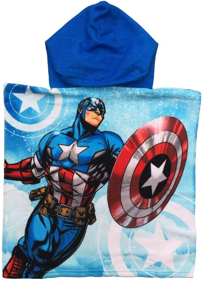 Sun City Poncho /Éponge Marvel Avengers Captain America Piscine Enfant Cartoons 1009