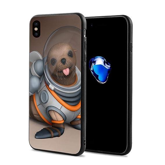 ba6ef21257db3 Amazon.com: Sea Lion Funny Cute Alien iPhone X 10 Phone Case Theme ...