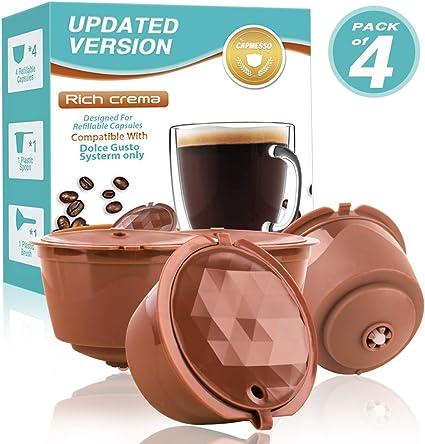 Ricaricabile PP Acciaio Inox Filtro Caffè Capsula Per Dolce Gusto Nescafé