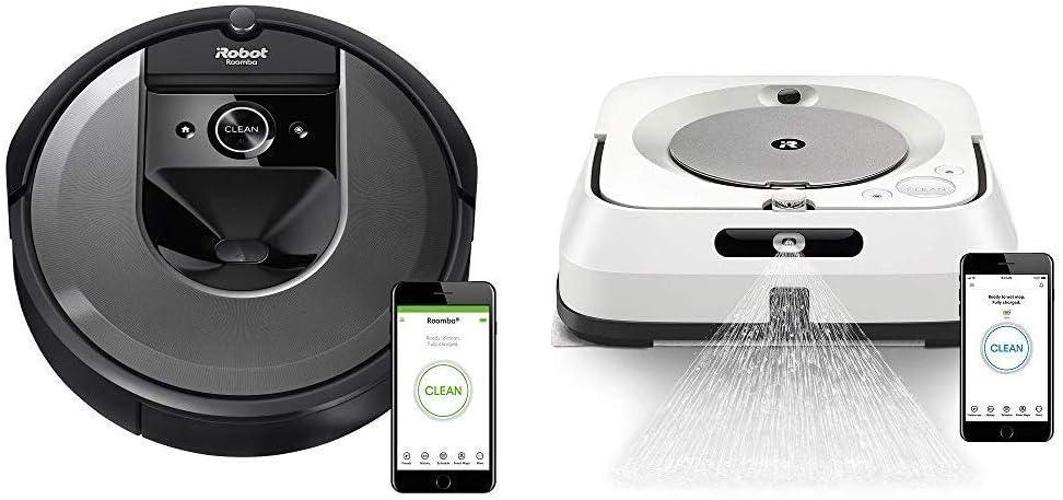 iRobot Roomba i7 (7150) Robot Vacuum with Braava Jet M6 (6110) Ultimate Robot Mop