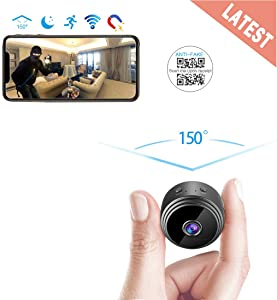 AREBI Spy Camera Wireless Hidden WiFi Mini Camera HD 1080P Portable Home Security Cameras Covert Nanny Cam Small Indoor Outdoor Video Recorder Motion Activated Night Vision A10 Plus [2020 Version]
