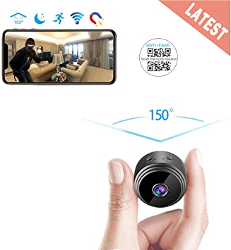 Wireless Mini Spy Nanny Camera Cordless Cam Night Vision Door Cam LED