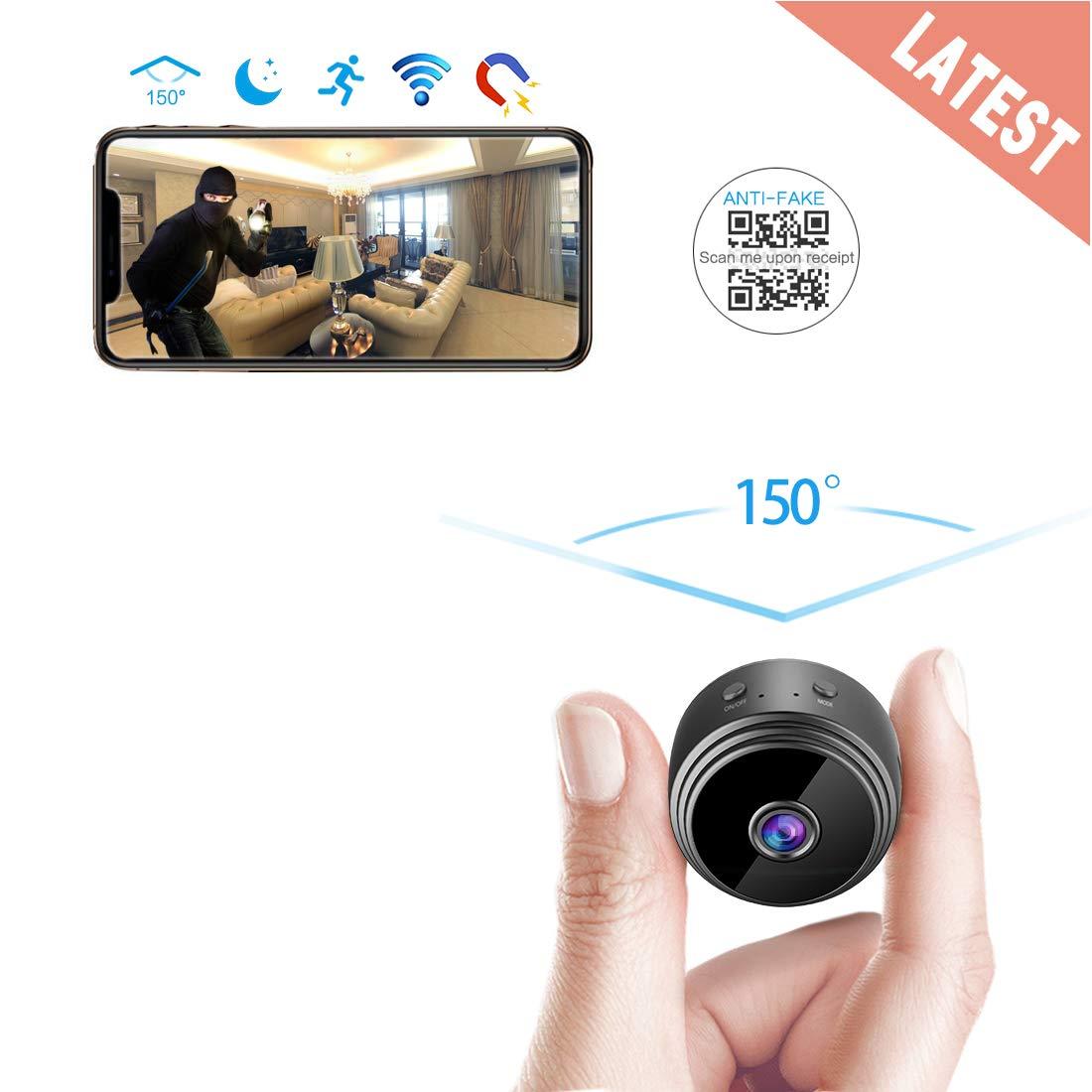 AREBI Spy Camera Wireless Hidden WiFi Camera HD 1080P Mini Camera Portable Home Security Cameras Covert Nanny Cam Small Indoor Video Recorder Motion ...