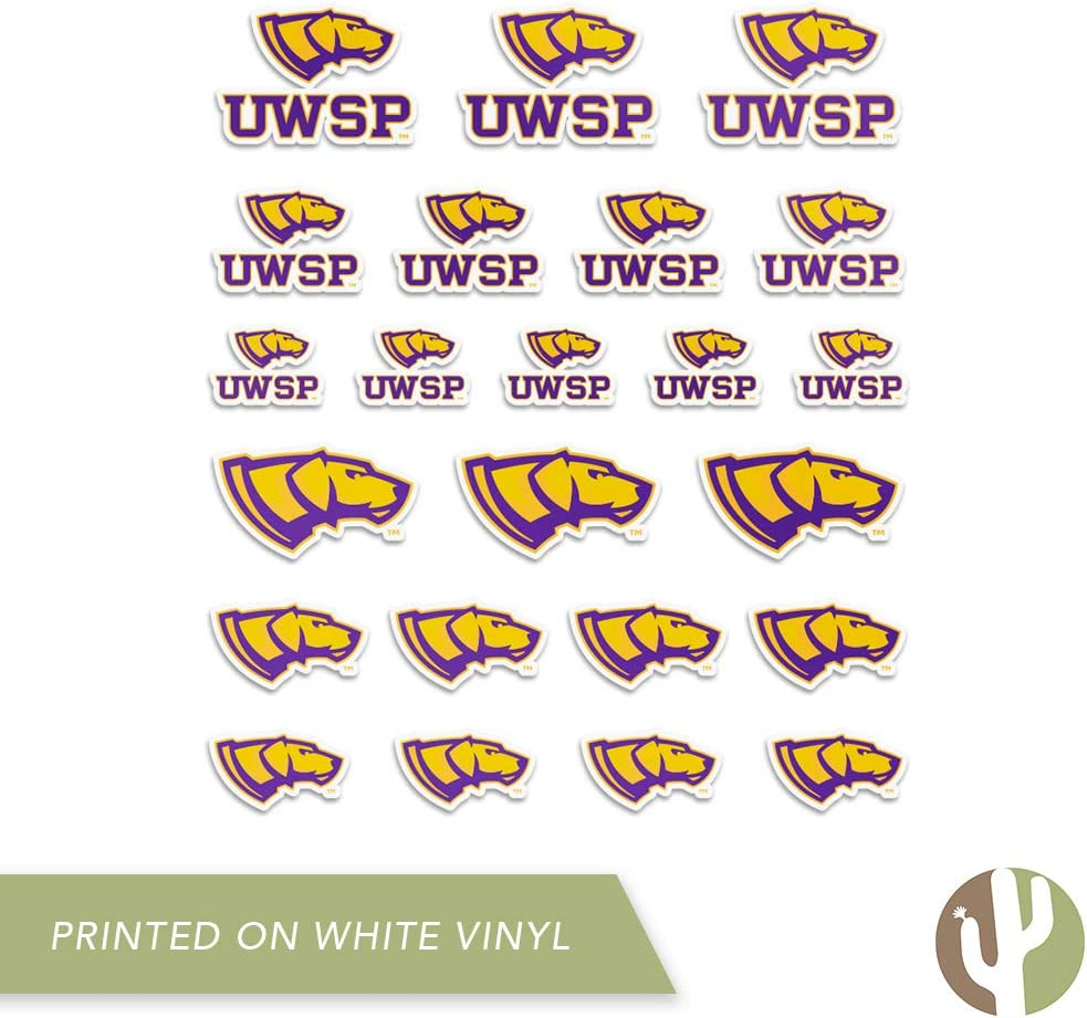 Type 1-1 Sheet University of Wisconsin Stevens Point UWSP Pointers NCAA Sticker Vinyl Decal Laptop Water Bottle Car Scrapbook