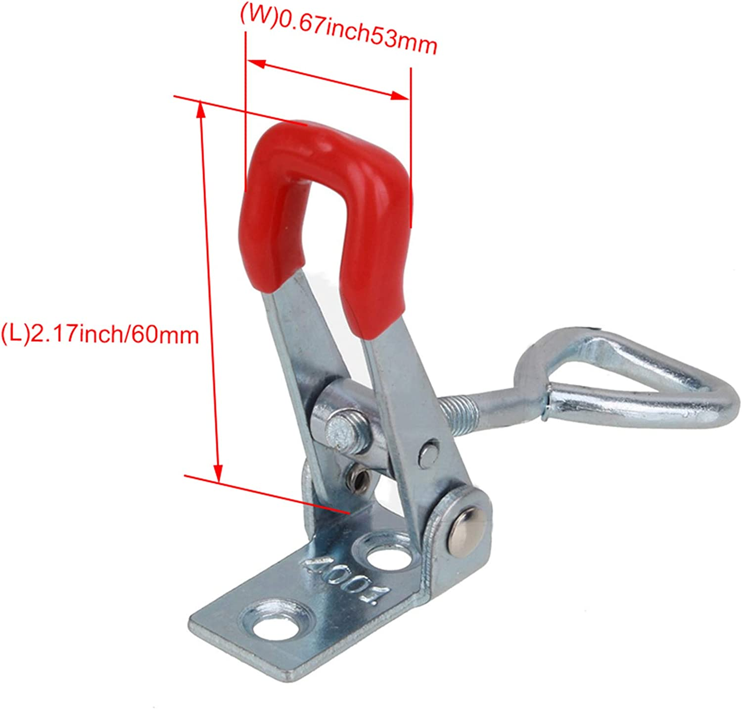 2pcs Small Size Adjustable Quick Cabinet Handle Toggle Clamp Hasp