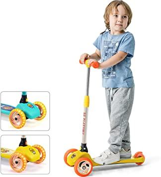 Amazon.com: Luddy Kick Scooter para niños y niños – Patinete ...