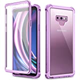 Dexnor Galaxy Note 9 Case with Screen Protector Clear Military Grade Rugged 360 Full Body Protective Shockproof Hard Back Cov