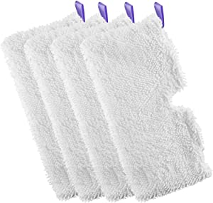 FVLITE 4Pcs Microfiber Replacement Cleaning Pads Steam Mop Pad for Shark Steam Pocket Mops S3500 Series, S2901, S2902, S3455K, S3501, S3550, S3601, S3801, S3801CO, S3901, S4601, S4701,S4701D, SE450